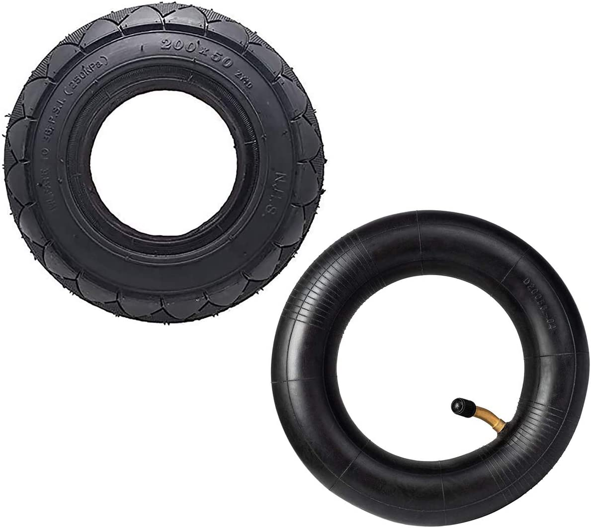 Power Core E100 eSpark with 8 Inch Universal Tire /& Inner ePunk Crazy Cart Dune Buggy E200 E150 PowerRider 360 200X50 Tire /& Inner Tube Set Replacement Electric Scooter Razor E100