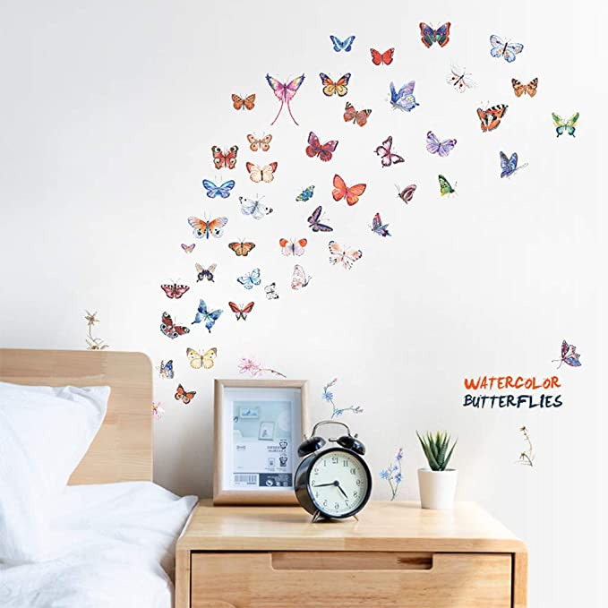 Wall stickers Glowing butterflies Self-adhesion high quality Very for bedroom