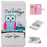 LG Stylo 2 Case, LG Stylus 2 Wallet Case, NOKEA [Flip Fit]Premium PU Leather Wallet Card-Slots Cash-Slots & Kickstand [Anti-Scratches] [Drop Protection] Protective Case Cover (Owl Always)