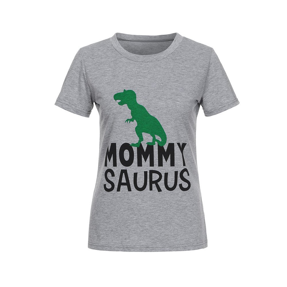 Family Matching T-Shirt, Girl Boy Mom& Dad Parent-Child Dinosuar Tops Blouse Tee Clothes Yamally Yamally_9R