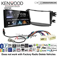 Volunteer Audio Kenwood DDX9704S Double Din Radio Install Kit with Apple Carplay Android Auto Fits 2012-2013 Hyundai Accent