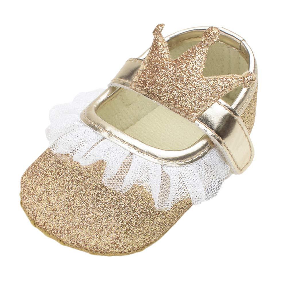 Yalasga Cute Baby Girls Newborn Infant Bling Casual First Walker Toddler Crib Shoes