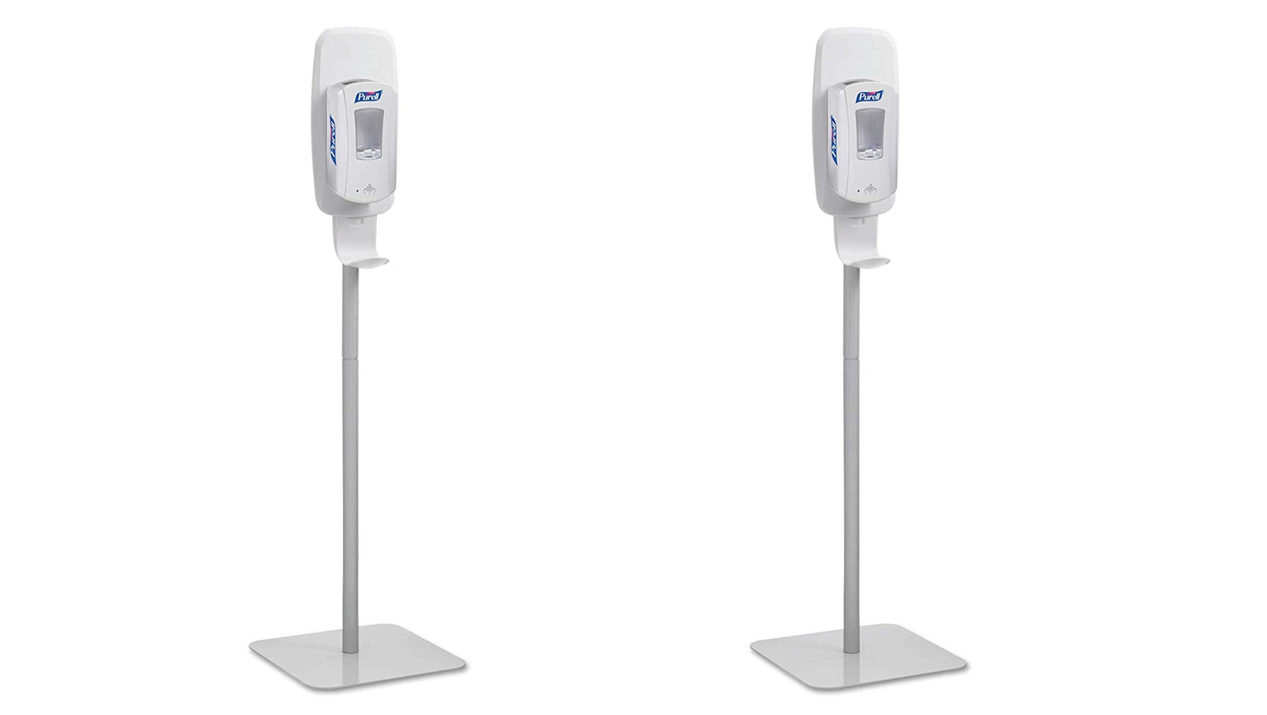 PURELL Hand Sanitizer Dispenser Floor Stand, White/Grey, Floor Stand for use with PURELL LTX or TFX Touch-Free Sanitizer Dispensers – 2424-DS (Pack of 2)