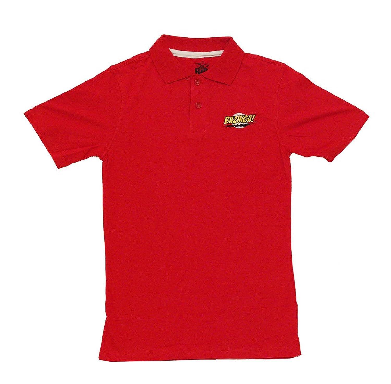 The Big Bang Theory Bazinga! Erwachsene Rot Polo Shirt