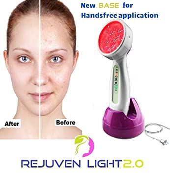 Rejuven Light 2 0 LED Light therapy w/ 4 Interchangeable heads Anti aging  device, skin rejuvenation,