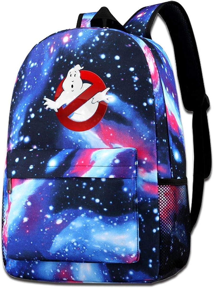 Geek Ghostbusters Starry Backpack School Backpack Laptop Bag Sport Travel Backpack