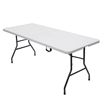 SONGMICS Table Pliante Transportable Plastique Robuste Table de ...