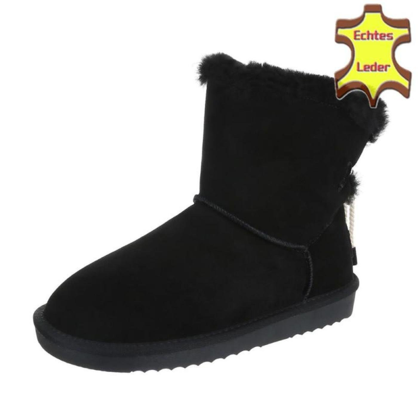 Cingant Woman Damen Schuhe/Damenschuhe/Stiefel/Leder/Schwarz Stiefel/Flache Profilsohle/Gefütterte Schuhe/Damenschuhe/Stiefel/Leder/Schwarz Damen - 7dd17b