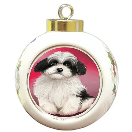 Doggie of the Day Havanese Dog Round Ball Christmas Ornament RBPOR48318 - Amazon.com: Doggie Of The Day Havanese Dog Round Ball Christmas