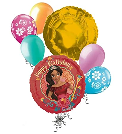 Amazon.com: 7 PC Disney Elena de avalor Feliz cumpleaños ...