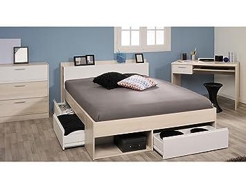 expendio Jugendzimmer Morris 59 Akazie Bett 140x200 Schreibtisch ...