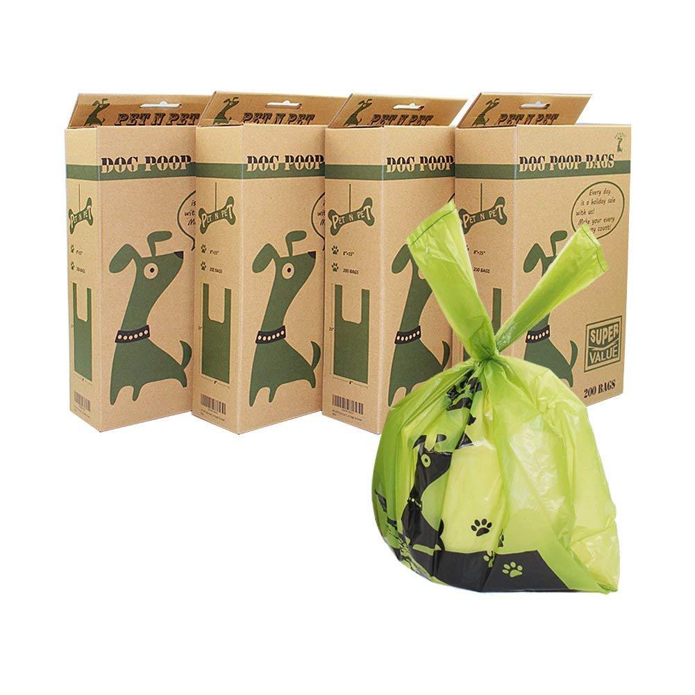 PET N PET 800 Counts Unscented Tie Handle Dog Waste Bags Poop Bags Poo Bags by PET N PET