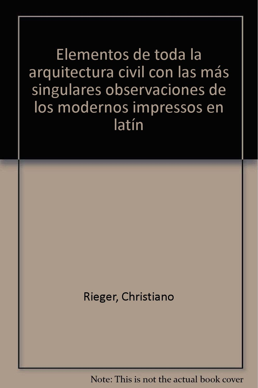 ELEMENTOS ARQUITECTURA CIVIL ESTUCHE FACSIMIL+LIBRO ...
