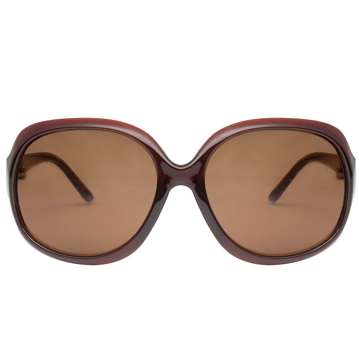 vivienfang elegante gafas de sol polarizadas de gran tamaño ...