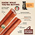 Natural Farm 6-Inch Bully Sticks (25-Pack) All-Natural, Farm-Raised Beef Dog Treats | Odor-Free, Grain-Free | Fully Digestible Chews for Small, Medium, Large Breeds