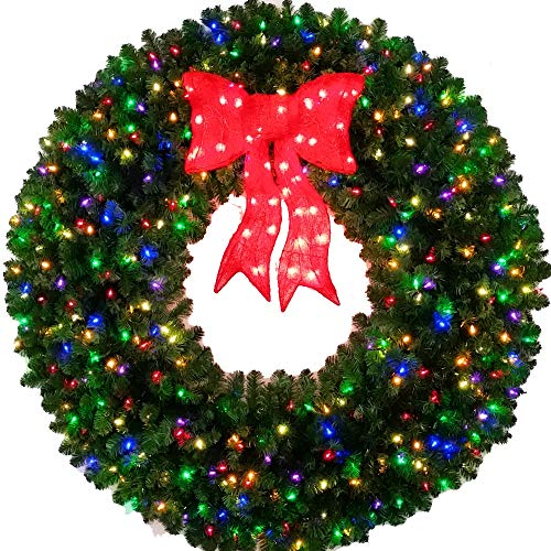 60 Wreath With Led Lights in US - 3