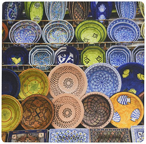 Price comparison product image 3dRose LLC 8 x 8 x 0.25 Inches Mouse Pad, Tunisia, Port El Kantaoui, Tunisian Pottery-Af47 Wbi0136 - Walter Bibikow (mp_74439_1)