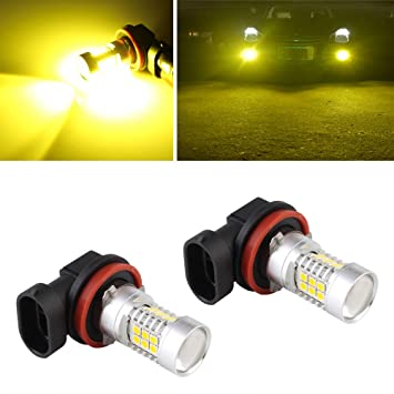 2x Yellow 3000K 80W H16//H11 LED Replacement Bulbs For Fog Lights For Toyota