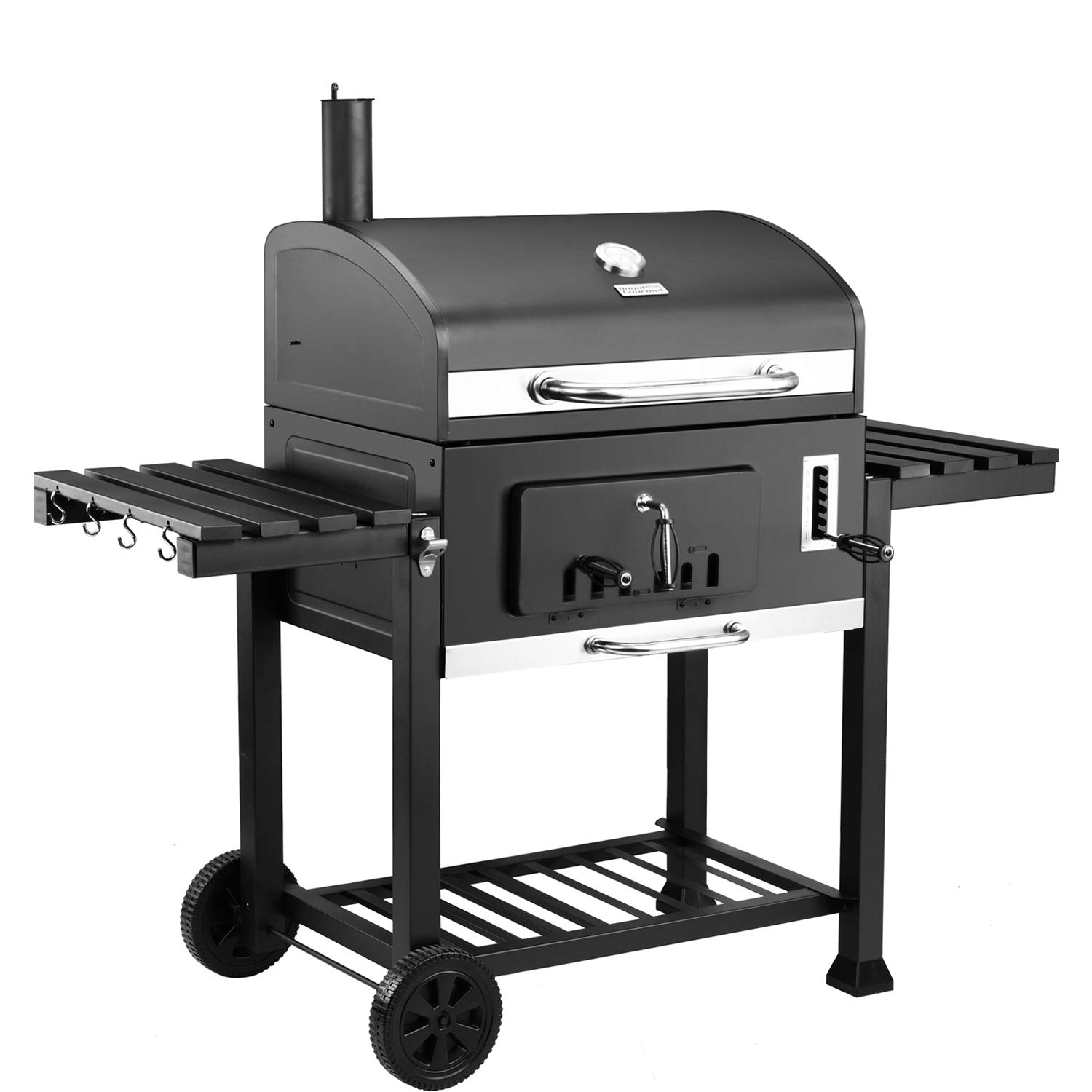 Royal Gourmet 30'' Charcoal Grill Large CD2030, Outdoor Barbeque, Backyard Cooking, Black