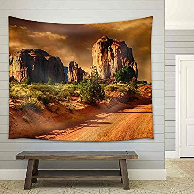 Beautiful Image of a Road Through Monument Valley Fabric Wall, That's 100% USA Made, Beautiful Creative Design