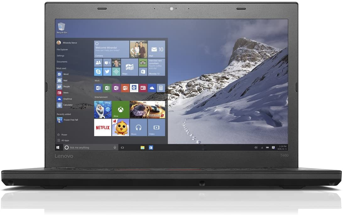 Lenovo Thinkpad T460 14-Inch Laptop ( Intel Core i5-6300U Dual-Core 2.4GHz, 8GB DDR3, 256GB SSD, Windows 7 Professional)