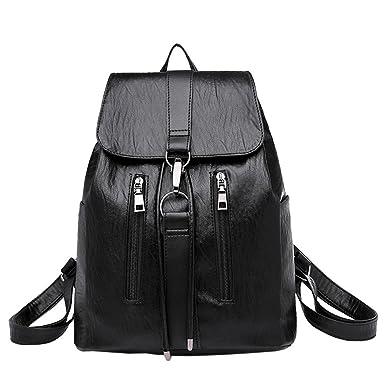 fe3028fc47 DEELIN Clearance Vintage Women Lightweight Zipper PU Leather Bag Satchel  Travel Shoulder Bag Cute Preppy Style