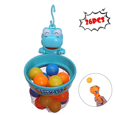 Dingji Bathroom Toy, Pitching Game Bathroom Indoor Toys Fun Basketball Shooting Ball Children's Gift Set: Toys & Games