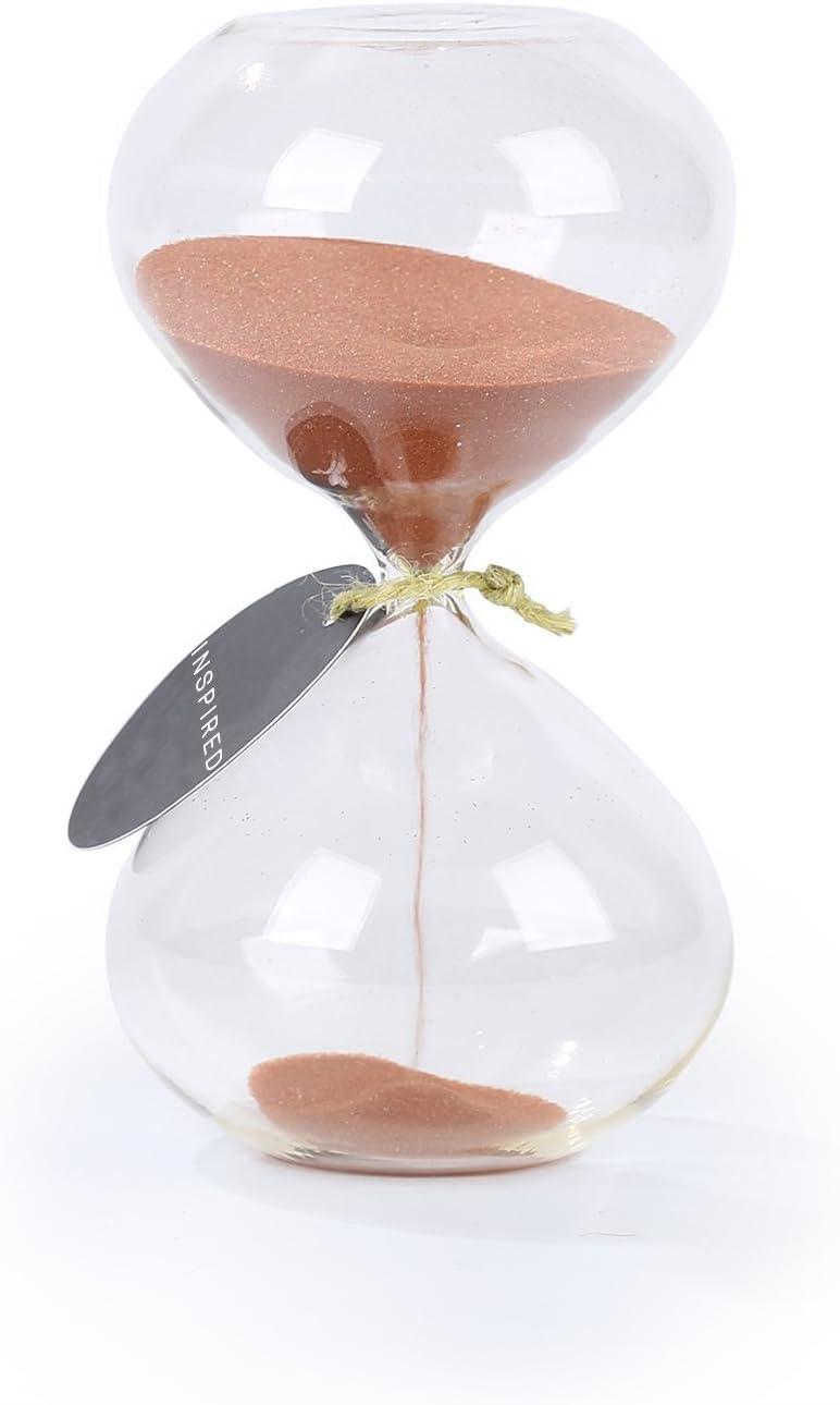 SWISSELITE BILOBA Puff Sand Timer/Hourglass (5.5 Inch,30 Minute(+/-180 Seconds), Copper)