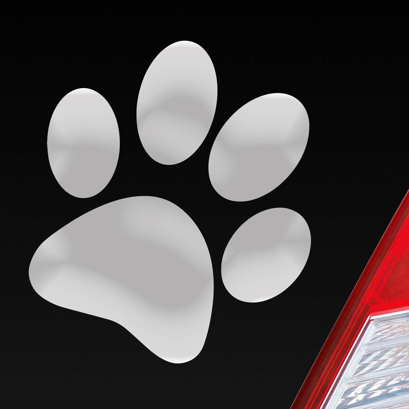 Auto Aufkleber In Deiner Wunschfarbe Hundepfote Pfote Hund Fote Tatze 10x11 Cm Autoaufkleber Sticker Folie Auto