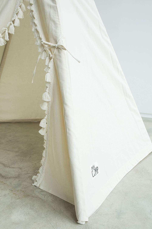 Boho style kids tipi, childrens teepee tent, kids teepee tent, play tent, teepee for kids, beige color playhouse 100% handmade! by MINICAMP (Image #2)