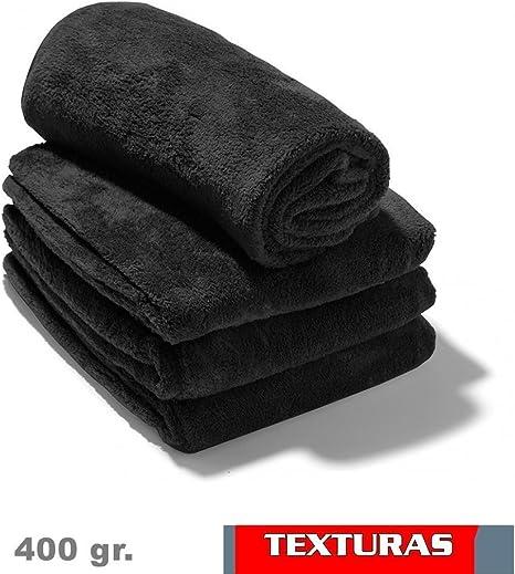 Texturas - 2X1 - Toalla Gym Peluquería 400 gr/m2 Color Negro O ...