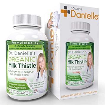 Dr  Danielle Organic Milk Thistle 30:1 Extract, Standardized to Contain 80%  Total Flavonoids, Natural