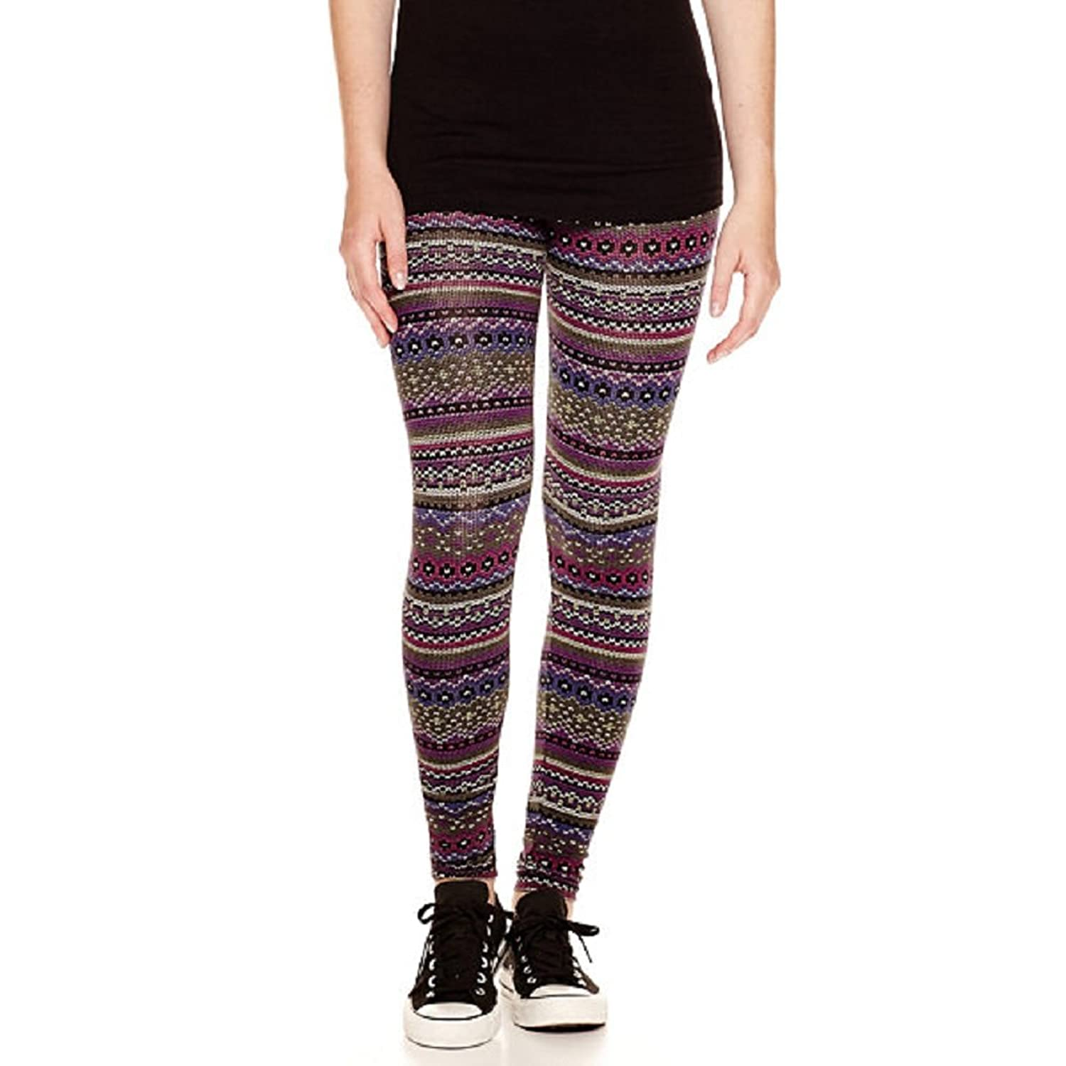 Arizona Fairisle Print Leggings Juniors