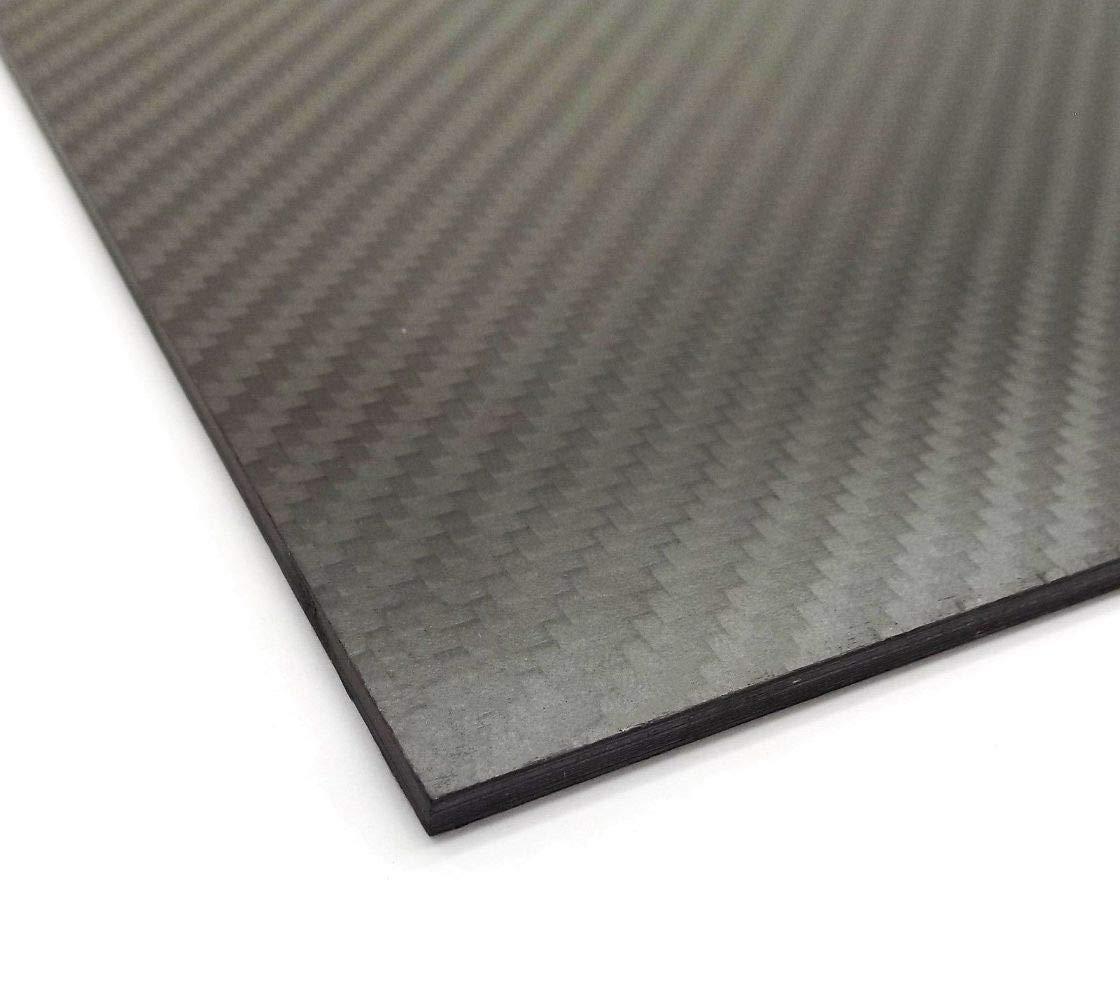 USAQ 500x400x4mm 3k Carbon Fiber Sheet Panel Twill Weave Matt Finish Large by USAQ