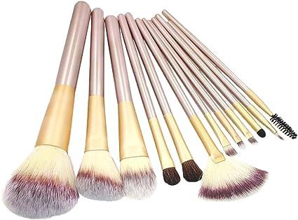 lameida Pinceles de maquillaje Juego de 12 piezas Profesional Foundation Concealer Pincel líquido Polvo Crema Brochas de Maquillaje Set de herramientas para cara y ojos (con estuche para dama): Amazon.es: Belleza