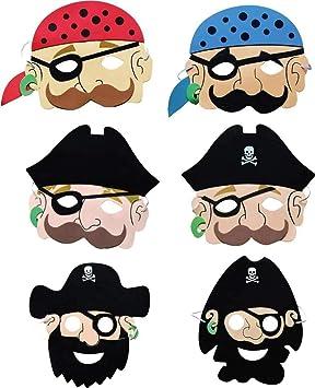 Pirate Foam Mask/ /Pack de 12