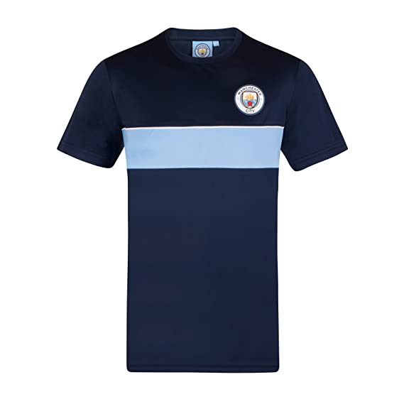 587368430 Manchester City FC Official Football Gift Mens Poly Training Kit T-Shirt   Amazon.co.uk  Clothing