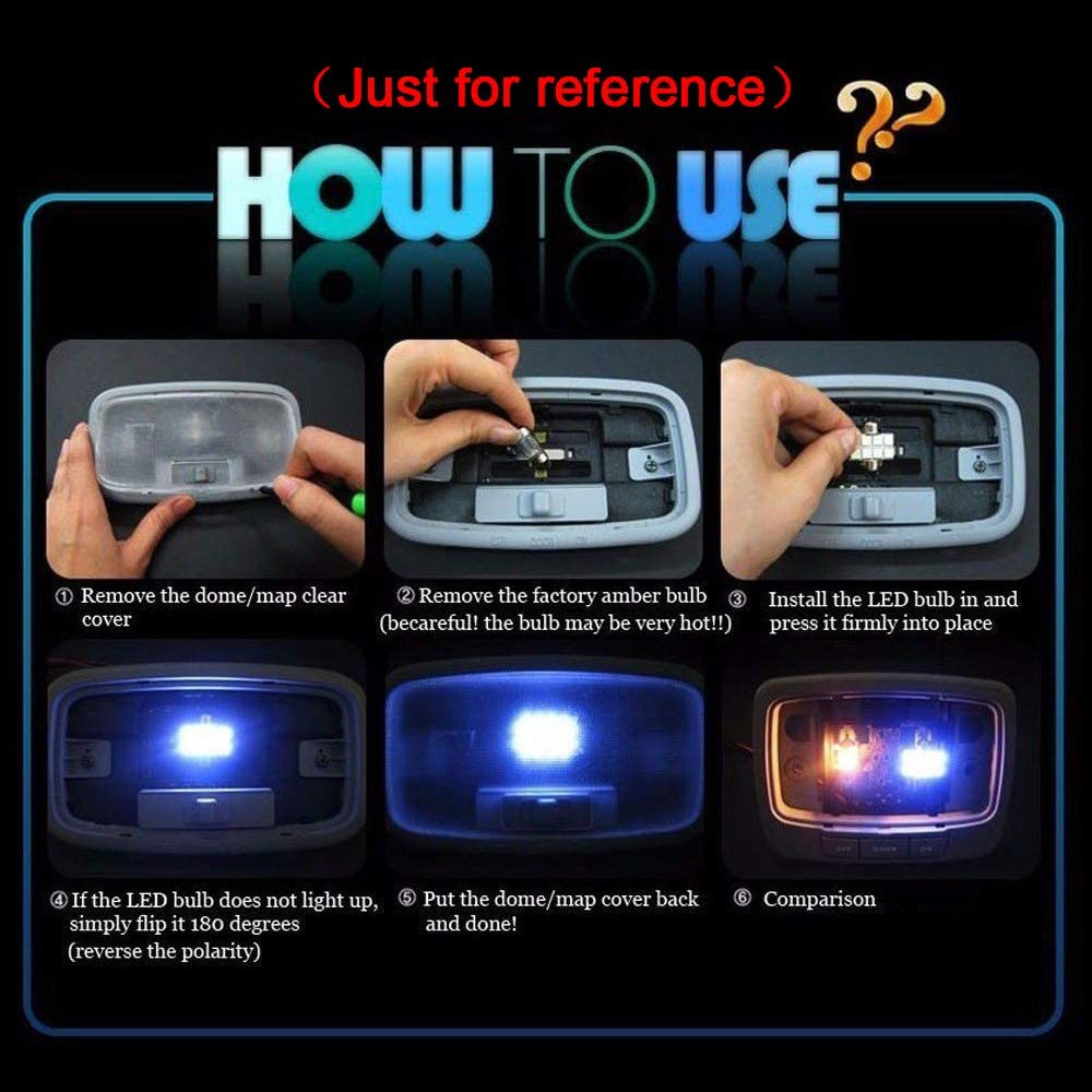 For A6 Super Bright LED Interior Lights Source Car Lamp Replacement Bulbs White Pack of 13