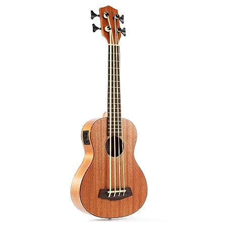 Donner - Ukulele Tenor DUB-1 Ukelele Bass Ukelele Acústico Eléctrico de Caoba 18 Trastes de Cuatro Cuerdas para Principiantes o Profesionales con ...