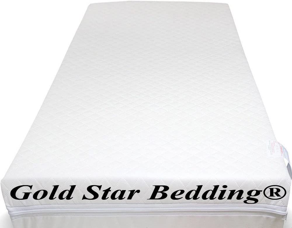 Fits Most Graco//M/&P Toddler Cots Extra Thick Quilted Cot Bed Foam Mattresses Waterproof Cover Baby Travel Cot Mattress Breathable 120 x 60 x 10 cm Anti Allergenic
