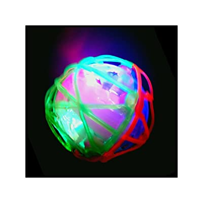 Boys Musical Led Flashing Light-Up Vibrating Bouncing Jumping Dancing Ball: Toys & Games
