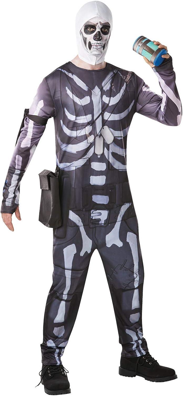 Fortnite - Disfraz Skull Trooper para adulto, talla M (Rubies 300195-M)
