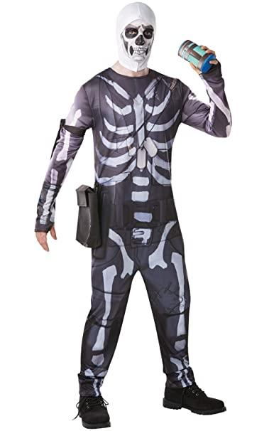 Amazon.com: Rubies Fortnite Skull Trooper - Mono para ...