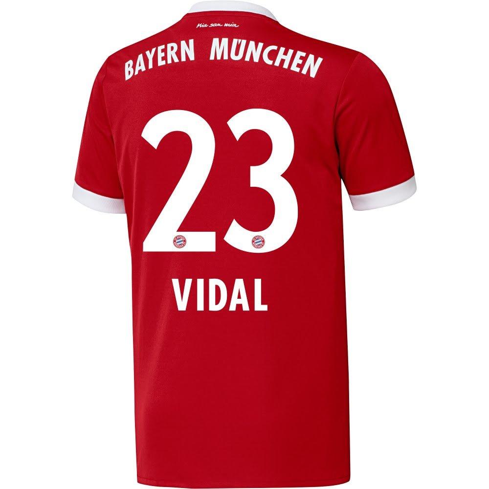 Bayern Munich Home Vidal Jersey 2017 / 2018 (公式印刷) B073WCYVXSL