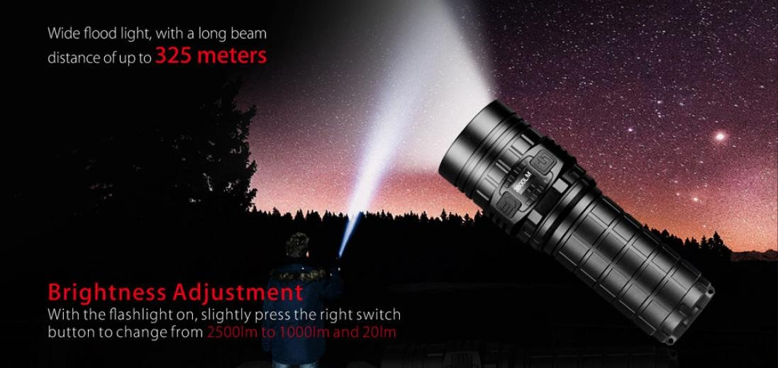 Promisen IMALENT DN70 XHP70 3800LM 26650 LED Flashlight Tactical Rechargeable Lighting by Promisen (Image #3)
