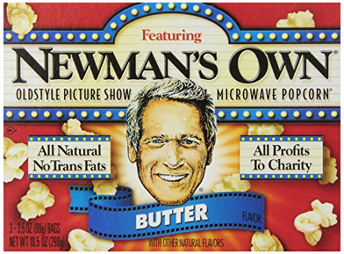 (Newman's Own Old Style Picture Show Microwave Popcorn,Butter, 3 Count (Pack of 1))
