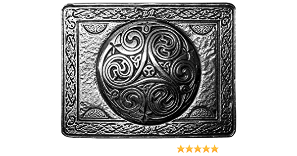 Pulido Hebilla del estaño Celta Serpiente Kilt-Hecho en Escocia