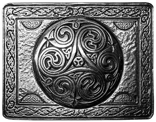Celtic Spiral Pewter Kilt Belt Buckle-Made in Scotland Pewter Celtic Belt Buckle