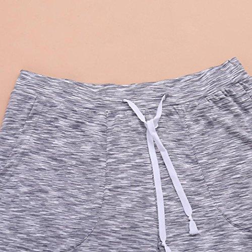 Pantalons Sportswear De Beach Hommes Rayures Adeshop Lâche Grande Pants Patchwork Mode Casual Plage Élasticité Shorts Vêtements Nouveau Gris Taille Sports fUZBaq