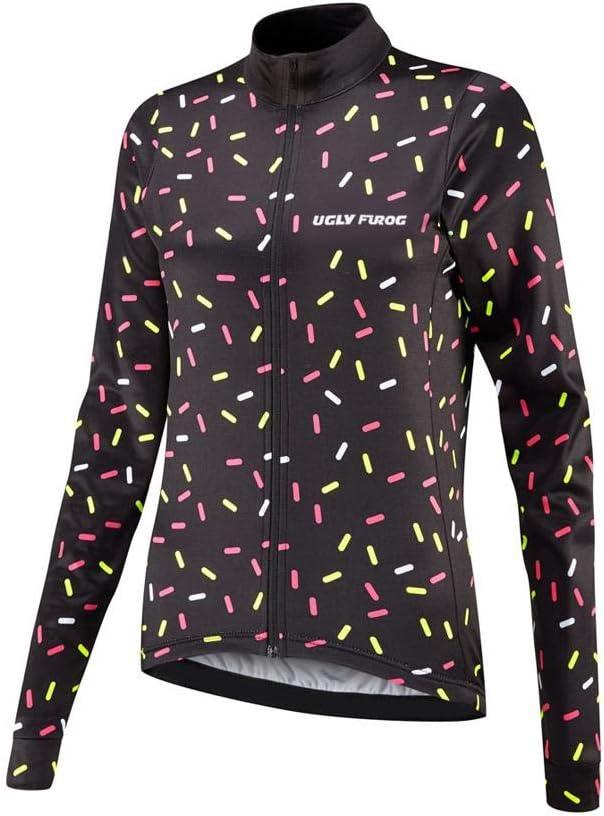 BurningBikewear Uglyfrog Nuevo Maillot Ciclismo De Mujer Invierno Fleece T/érmico Manga Larga Ropa De Triatlon Anti-fr/ío ZRWX04F